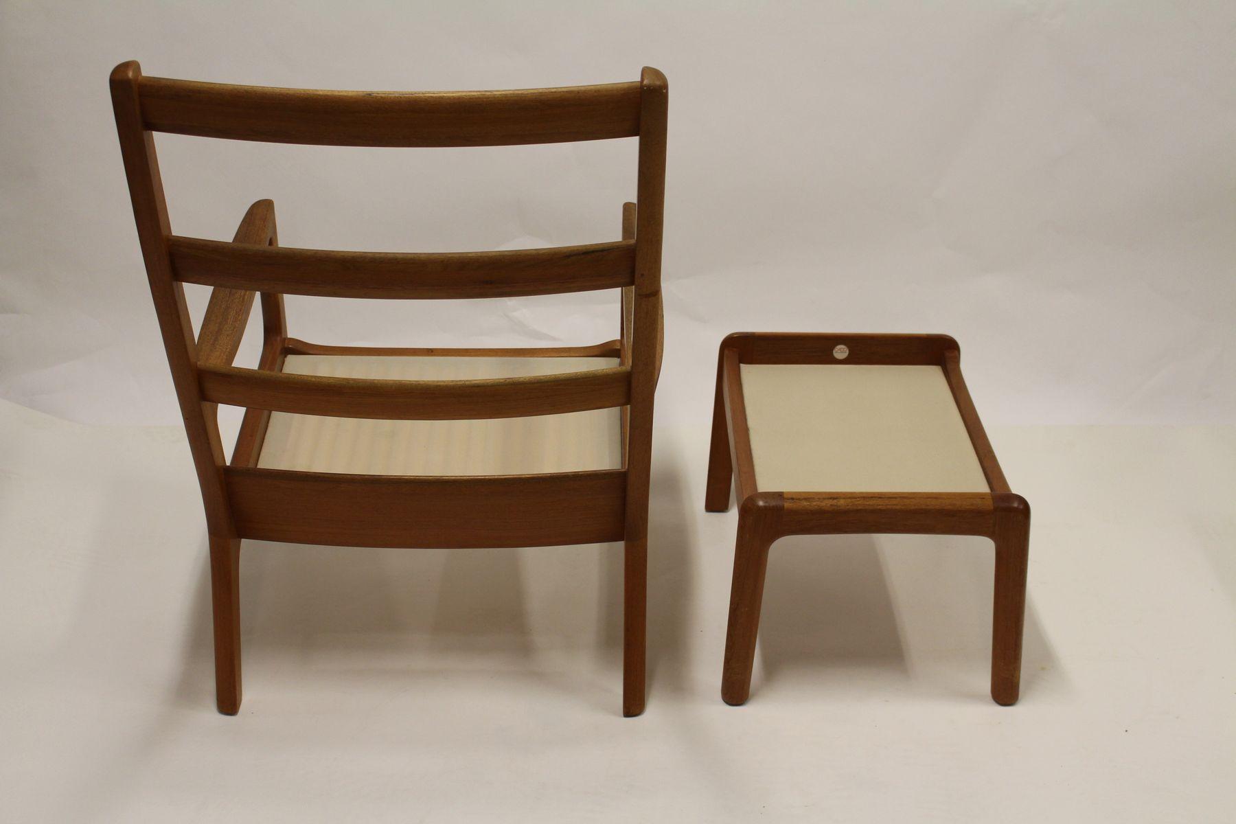 vintage senator sessel und ottoman von ole wanscher f r cado bei pamono kaufen. Black Bedroom Furniture Sets. Home Design Ideas