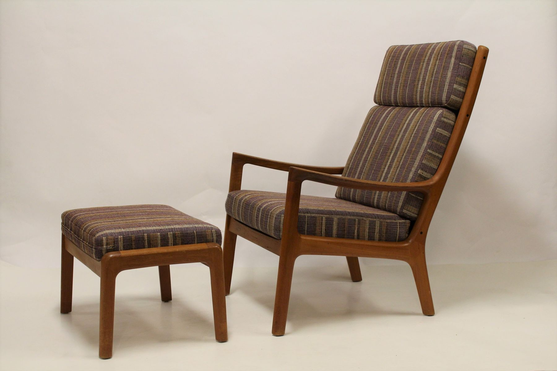 Vintage Senator Lounge Chair with Ottoman by Ole Wanscher for Cado ...