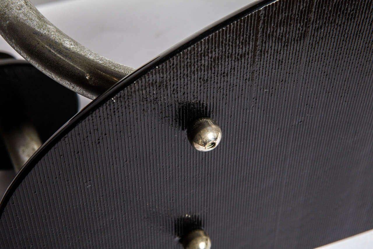 4 leuchten kandelaber aus eisen auf schwarzem opalglas fu 1940er bei pamono kaufen. Black Bedroom Furniture Sets. Home Design Ideas