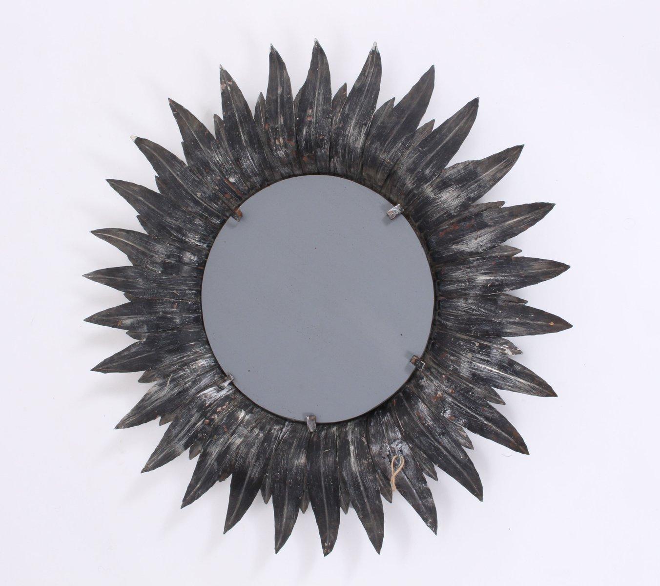 franz sischer vintage spiegel mit metallrahmen bei pamono kaufen. Black Bedroom Furniture Sets. Home Design Ideas