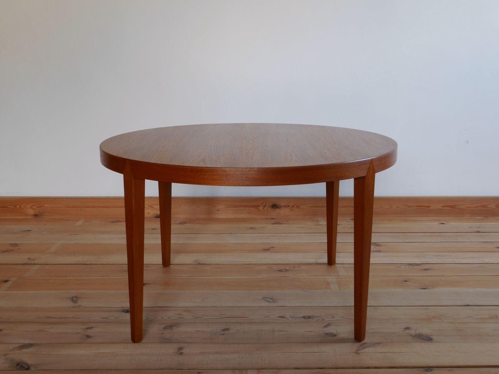 Mesa de centro danesa redonda de teca de severin hansen - Mesa de teca ...