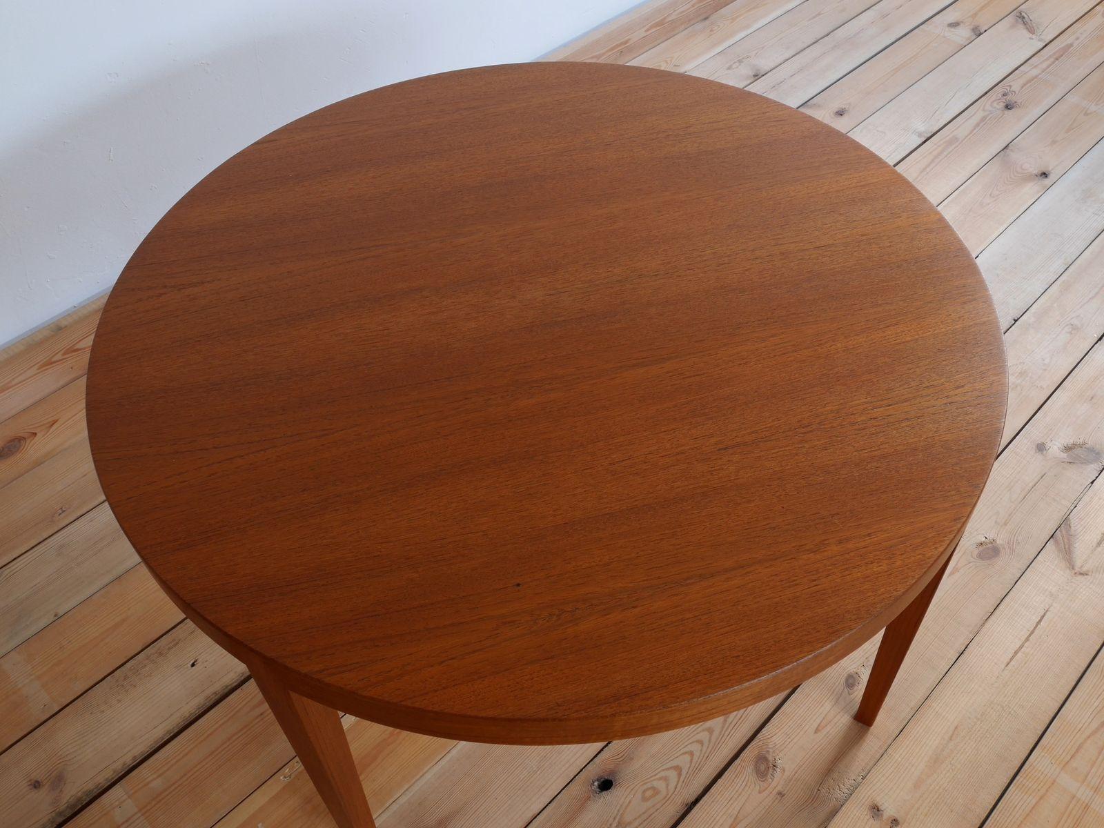 danish teak round coffee table by severin hansen for haslev 1960s bei pamono kaufen. Black Bedroom Furniture Sets. Home Design Ideas