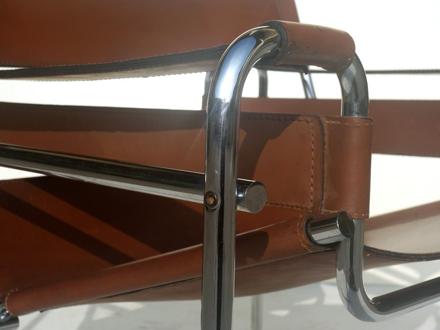 B3 Wassily Sessel von Marcel Breuer für Gavina 1960er bei