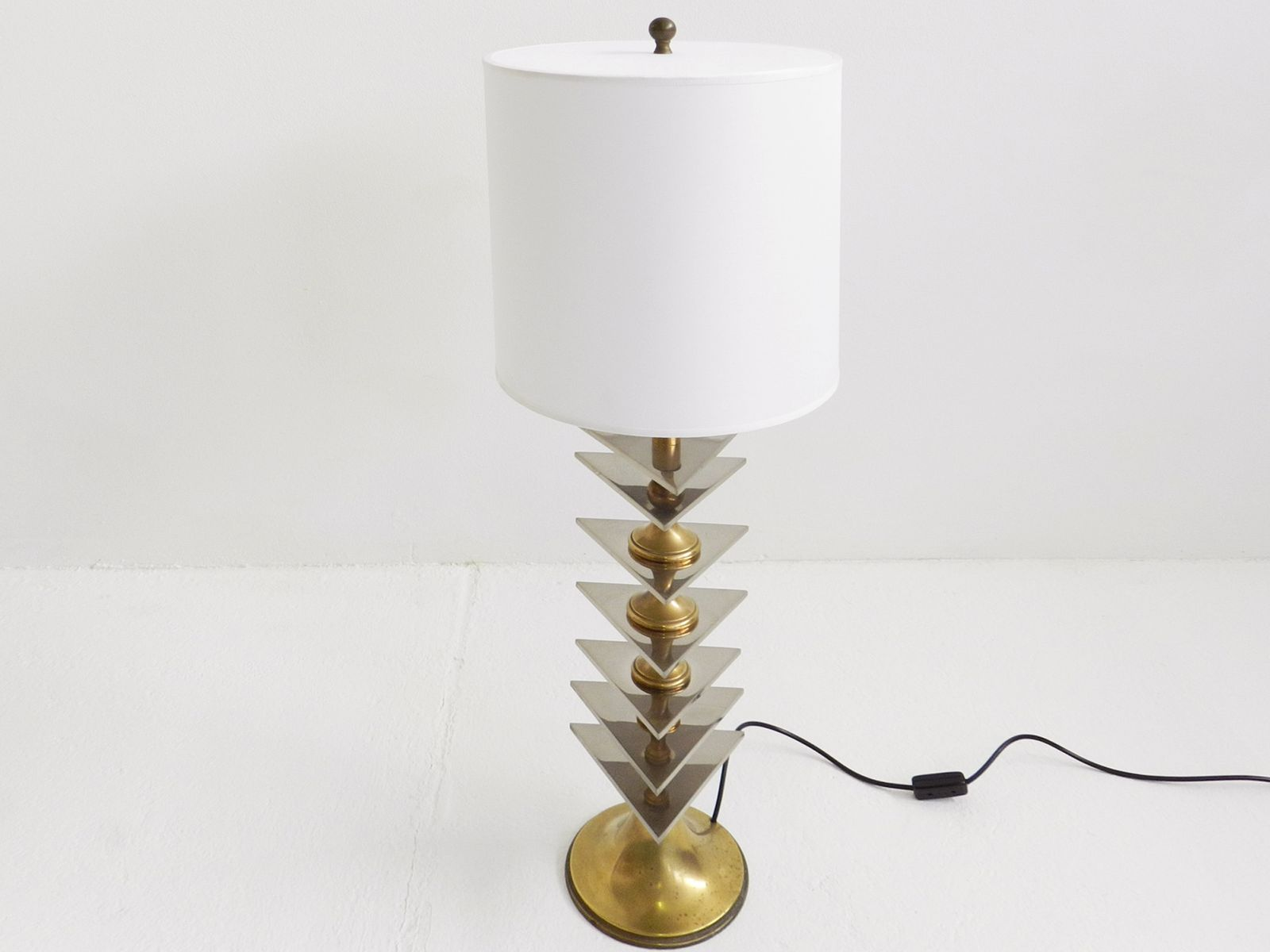 Large italian brass and stainless steel table lamp 1960s for sale 173200 aloadofball Gallery