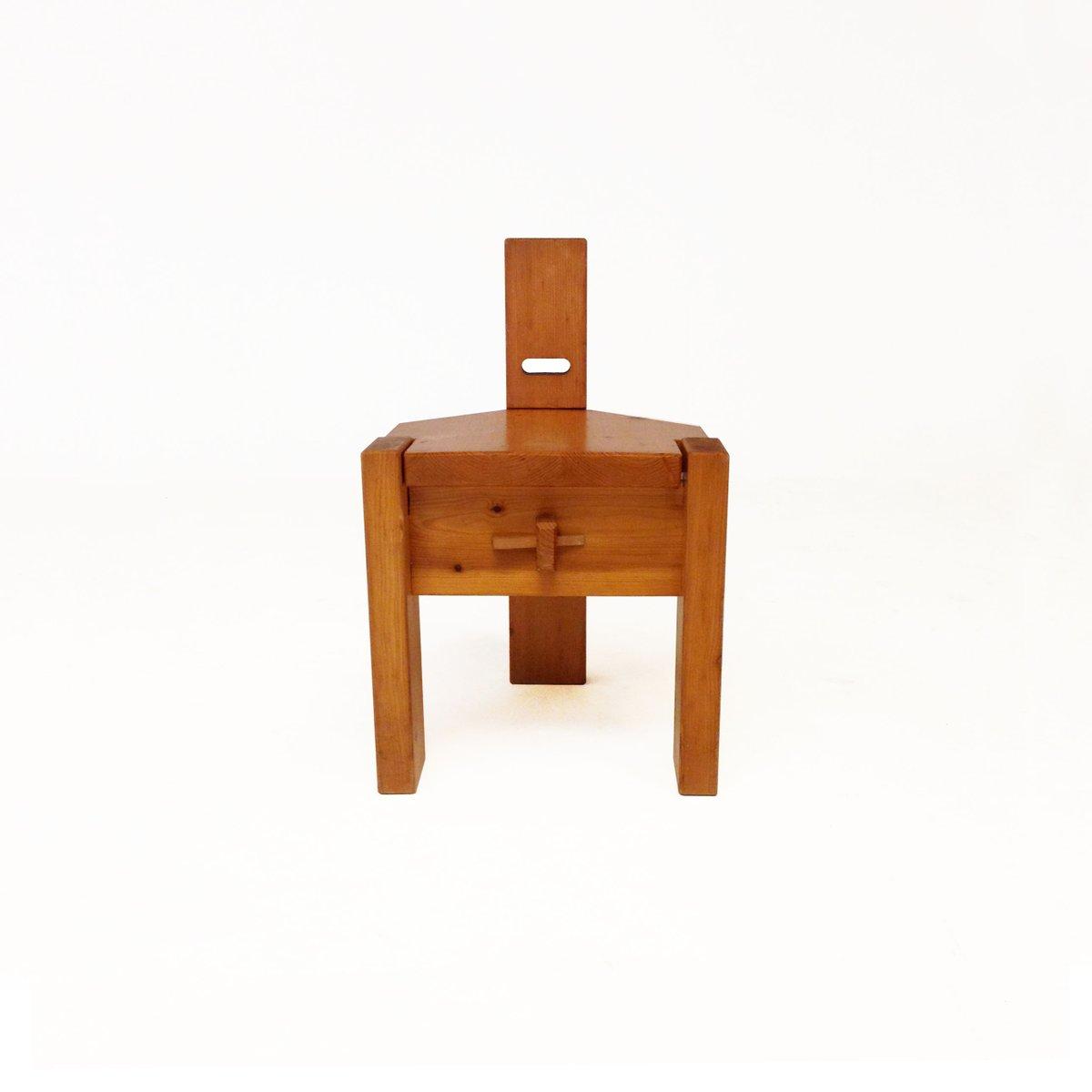 Kinderstuhl von Erwin Egel für Nürnberg-Moorenbrunn, Dieter Güllert, 1... | Kinderzimmer > Kinderzimmerstühle > Kinderstühle | Braun | Kiefernholz