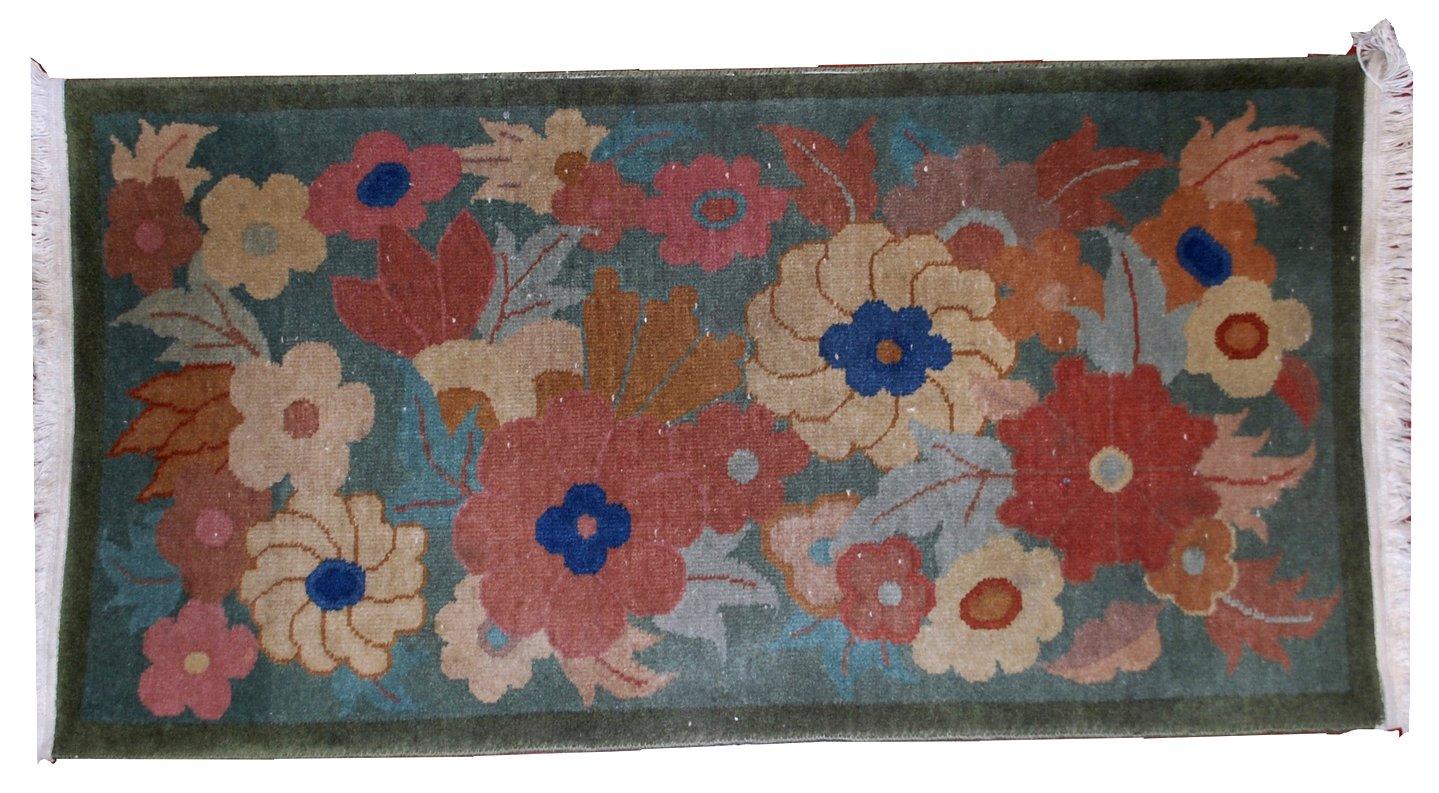 antiker chinesischer art deco teppich 1920er bei pamono. Black Bedroom Furniture Sets. Home Design Ideas