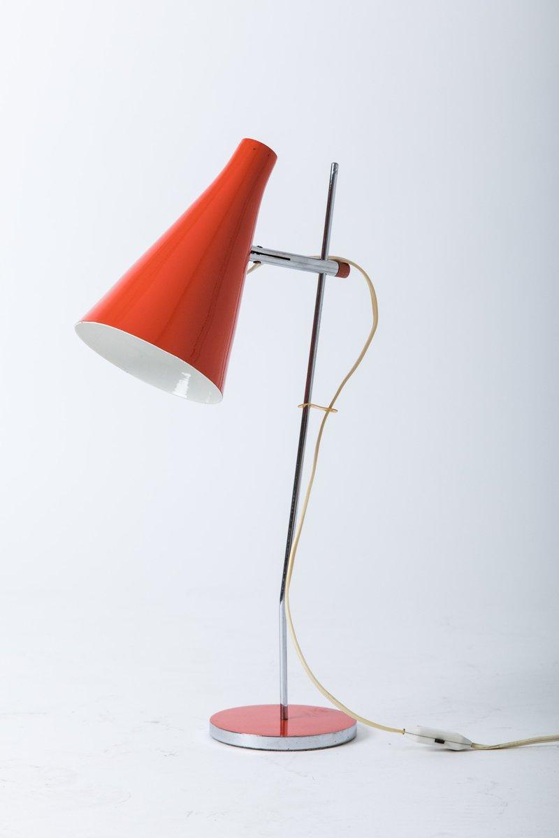 Rote Tischlampe von Josef Hurka für Lidokov, 1960er