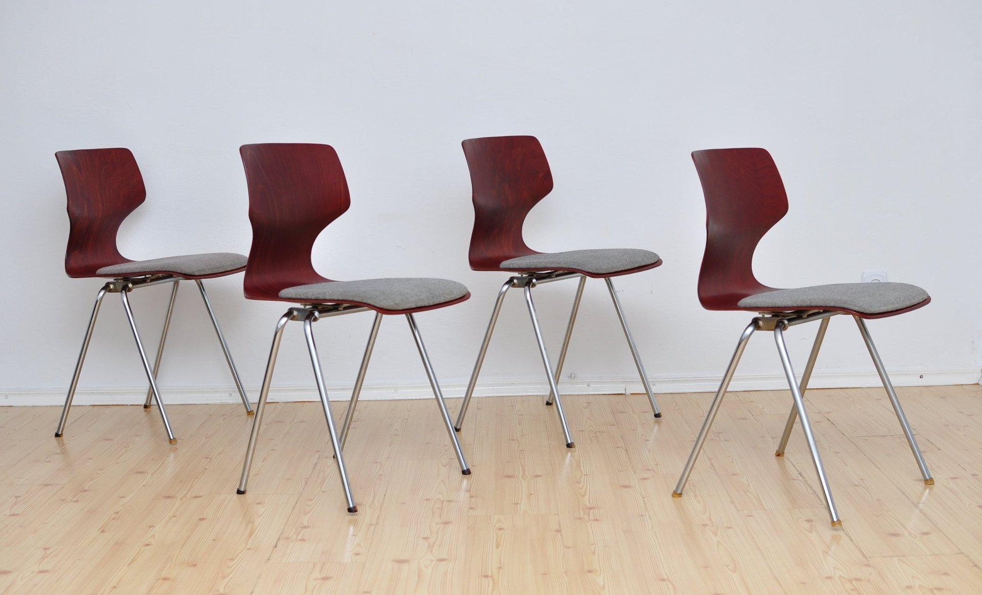 st hle von fl totto 1960er 4er set bei pamono kaufen. Black Bedroom Furniture Sets. Home Design Ideas