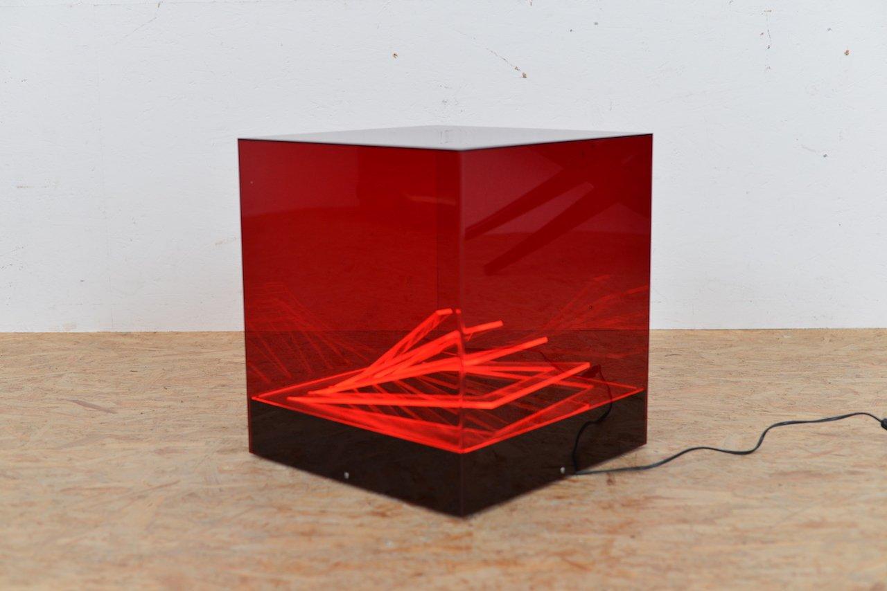 Cubo di Teo Tischlampe von James Rivière für , 1960er