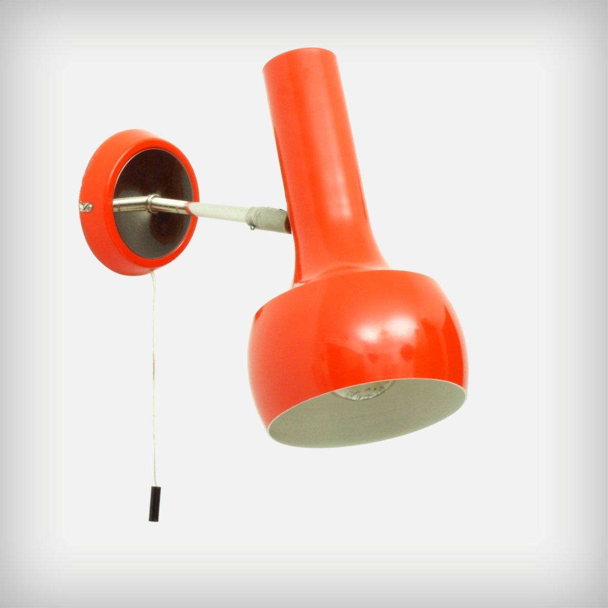 Schweizer Rot-Orange Wand- oder Deckenlampe von LAD Team für Swisslamp...