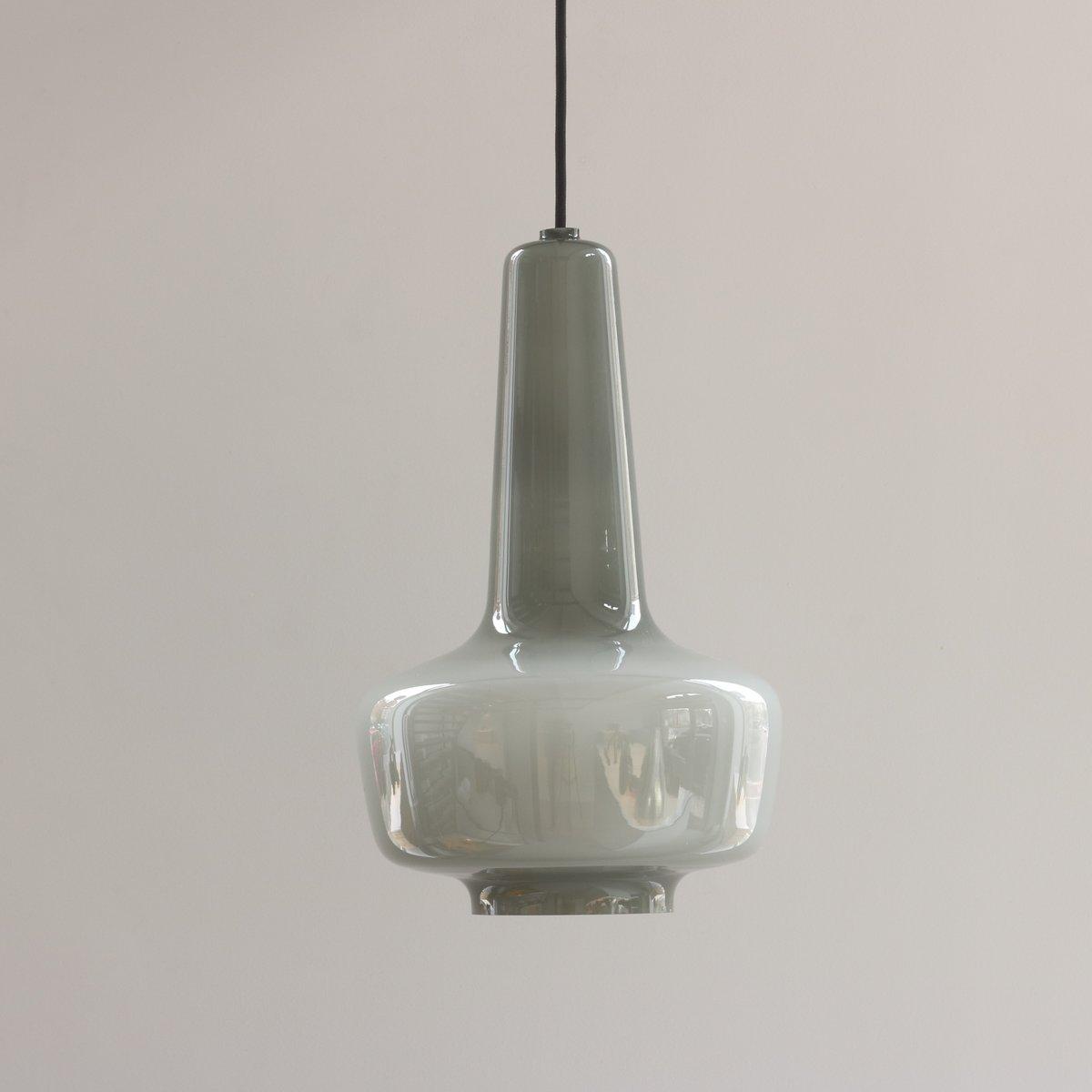 Vintage Kreta Deckenlampe aus Grauem Glas von Jacob E. Bang für Fog & ...