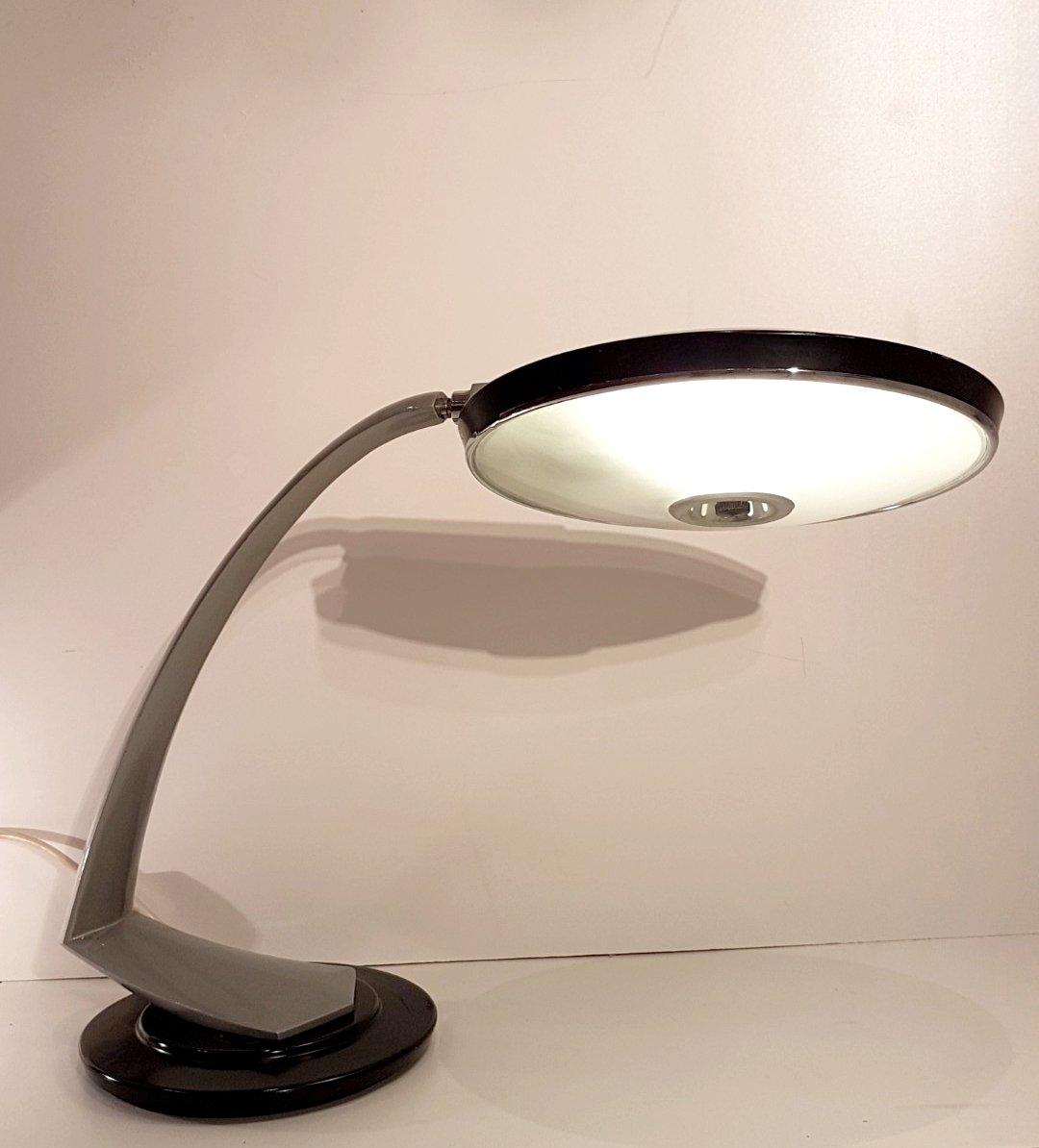 Bumerang Schreibtischlampe von Fase, 1970er