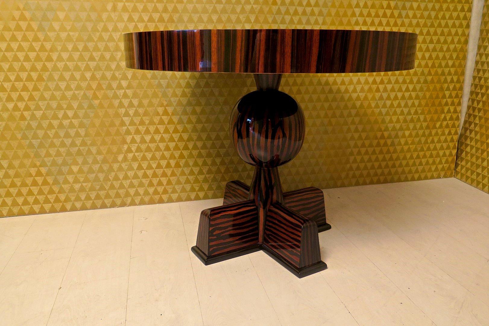 table d 39 appoint en placage d 39 b ne de macassar 1940s en vente sur pamono. Black Bedroom Furniture Sets. Home Design Ideas