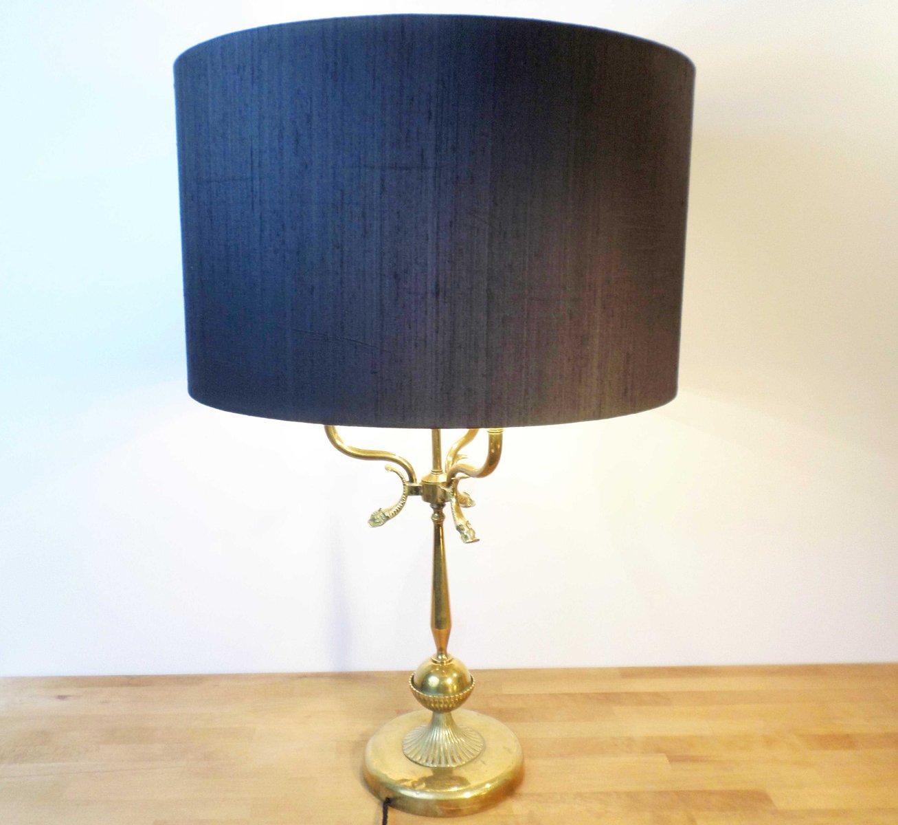 Große Vintage Bouillotte Tischlampe