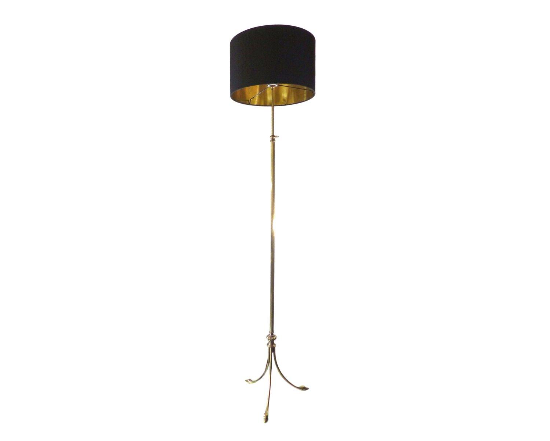 Messing Stehlampe mit Schwanköpfen-Füßen von Maison Jansen, 1960er