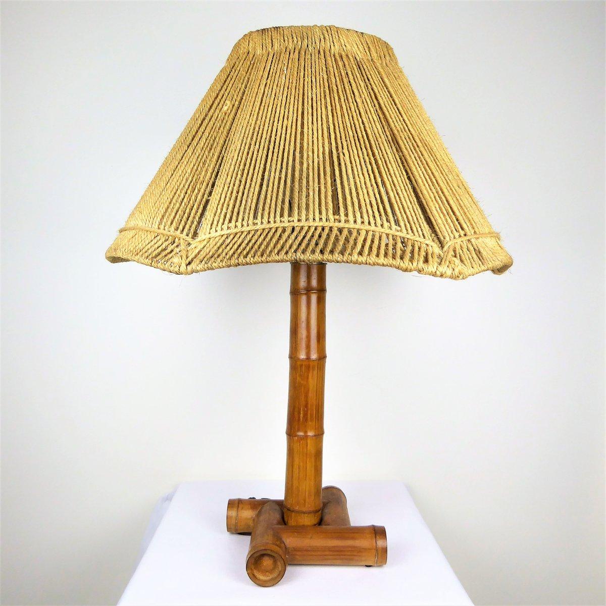 Bambus Lampe Mit Leuchte Aus Seil 1950er Bei Pamono Kaufen