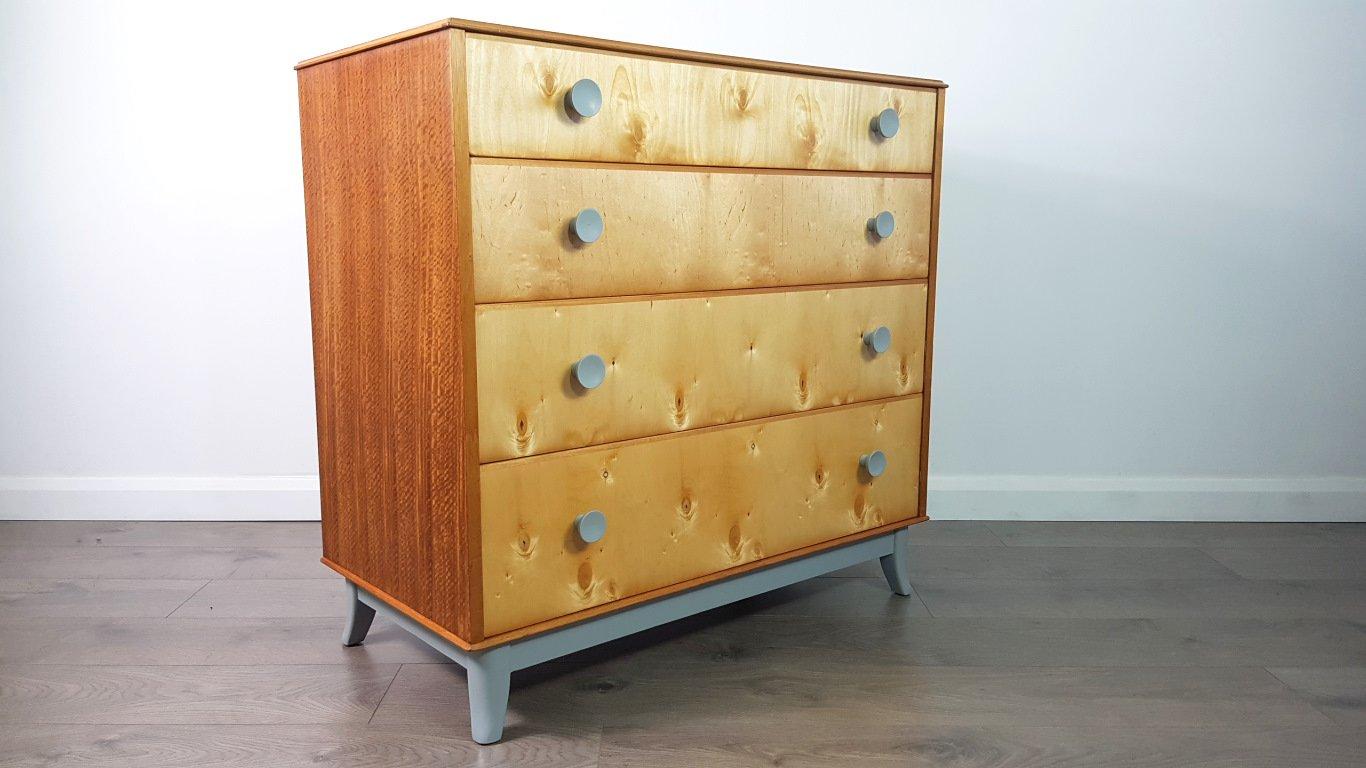 mid century walnuss furnier kommode von vesper f r gimson slater 1950er bei pamono kaufen. Black Bedroom Furniture Sets. Home Design Ideas