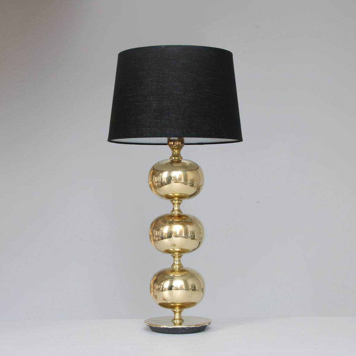 Triple Globe Messing Tischlampe von Henrik Blomqvist für Tranas Stilar...