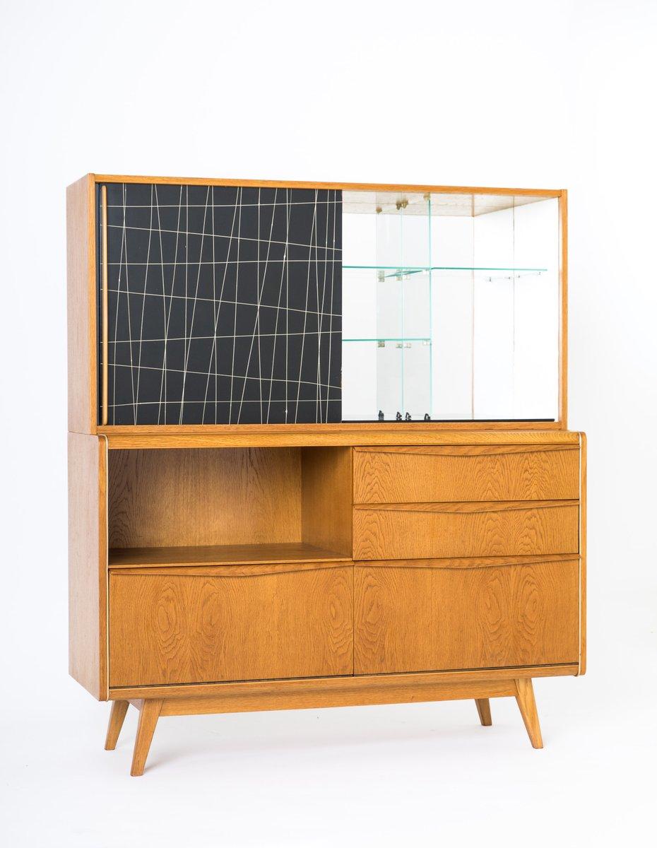 meuble de bar vintage par bohumil landsman pour jitona en. Black Bedroom Furniture Sets. Home Design Ideas