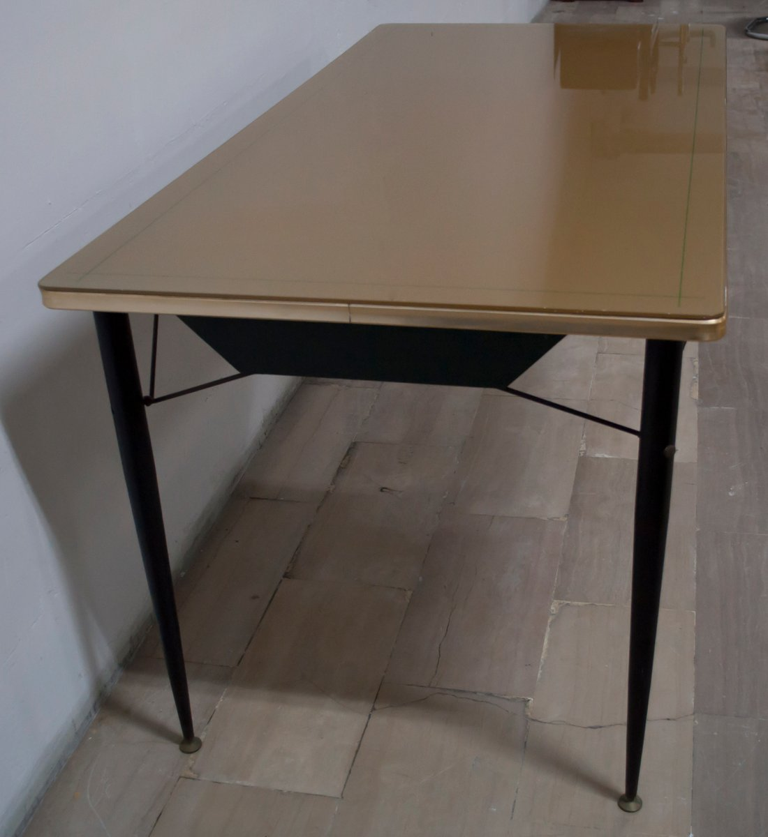 Tavolo da pranzo mid century con sei sedie anni 39 50 in - Tavolo con sedie ...