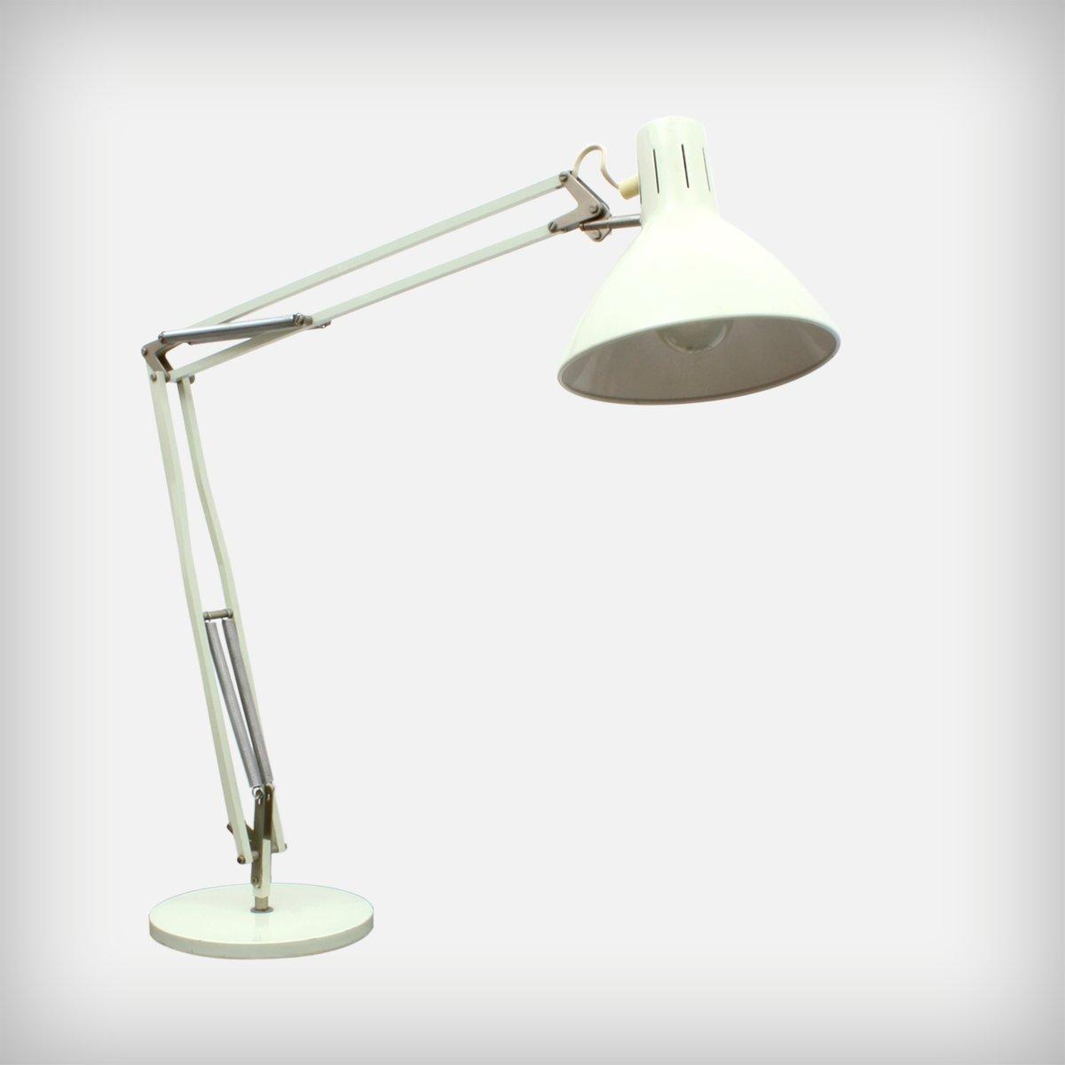 Niederländische Graue Metall Terry 2 Schreibtischlampe von H. Th. J. A...