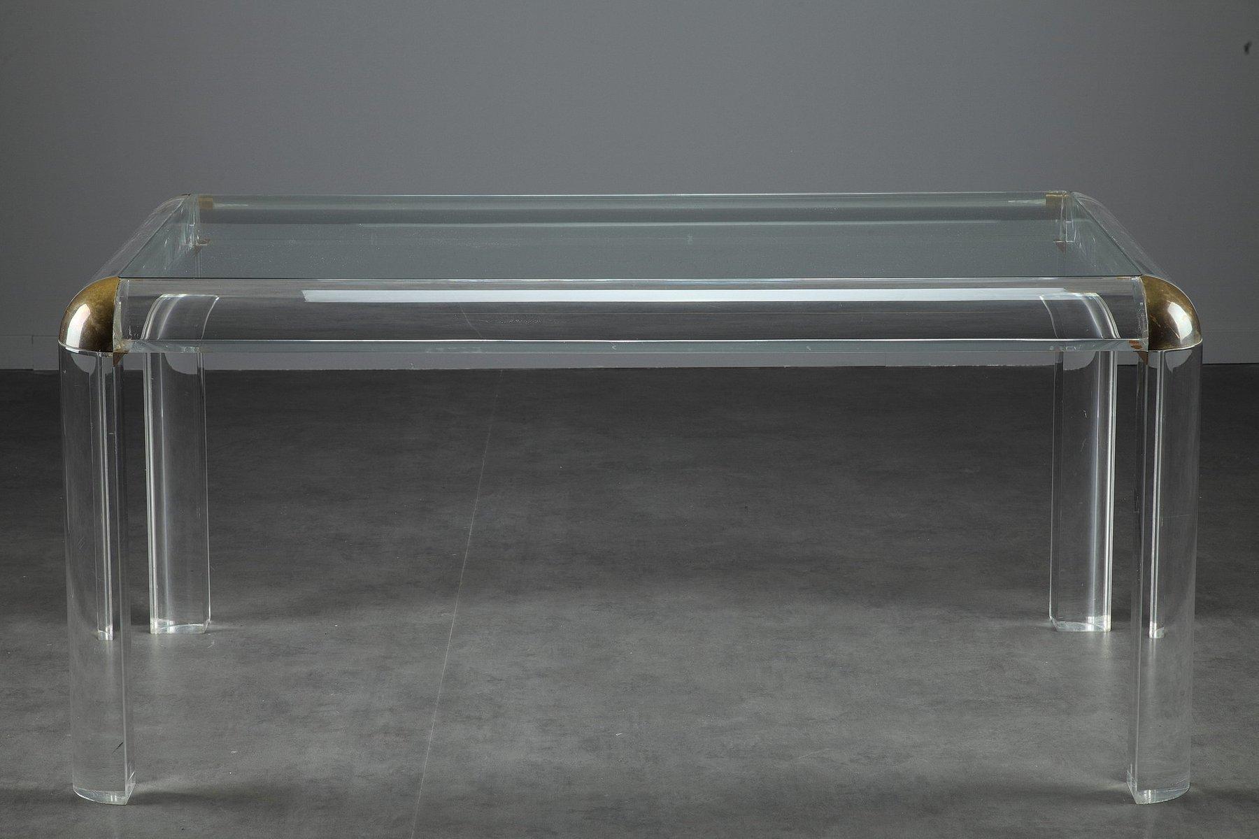 italian plexiglass table 1970s for sale at pamono