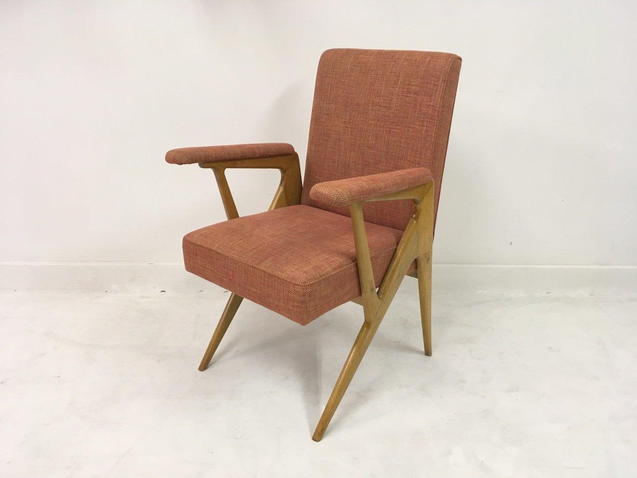 italienischer sessel 1950er bei pamono kaufen. Black Bedroom Furniture Sets. Home Design Ideas