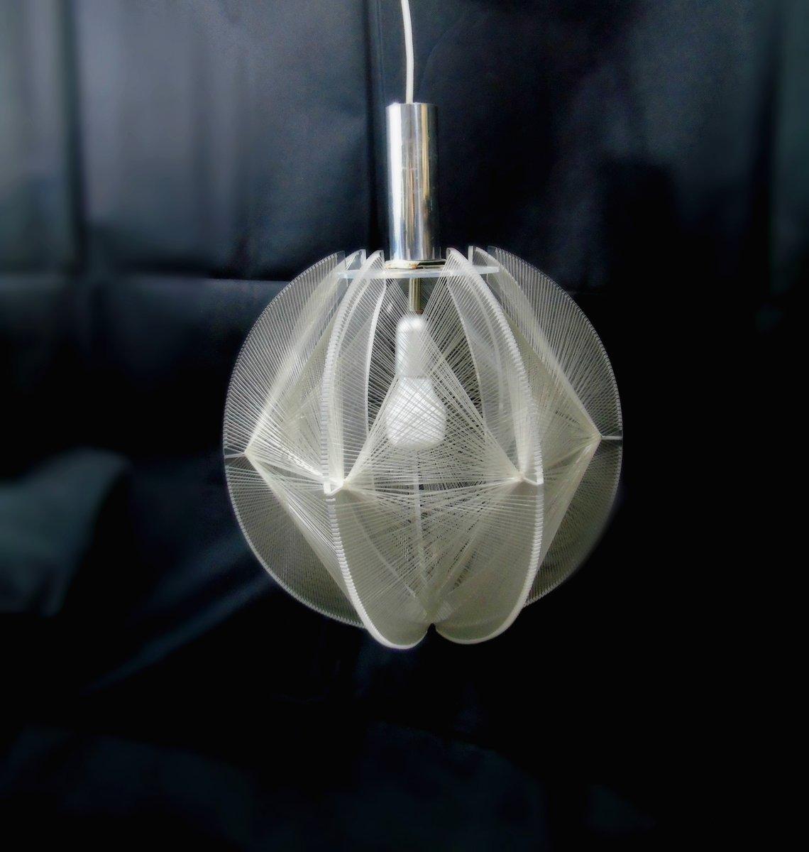 Vintage Modell Swag Lampe von Paul Secon für Sompex, 1960er