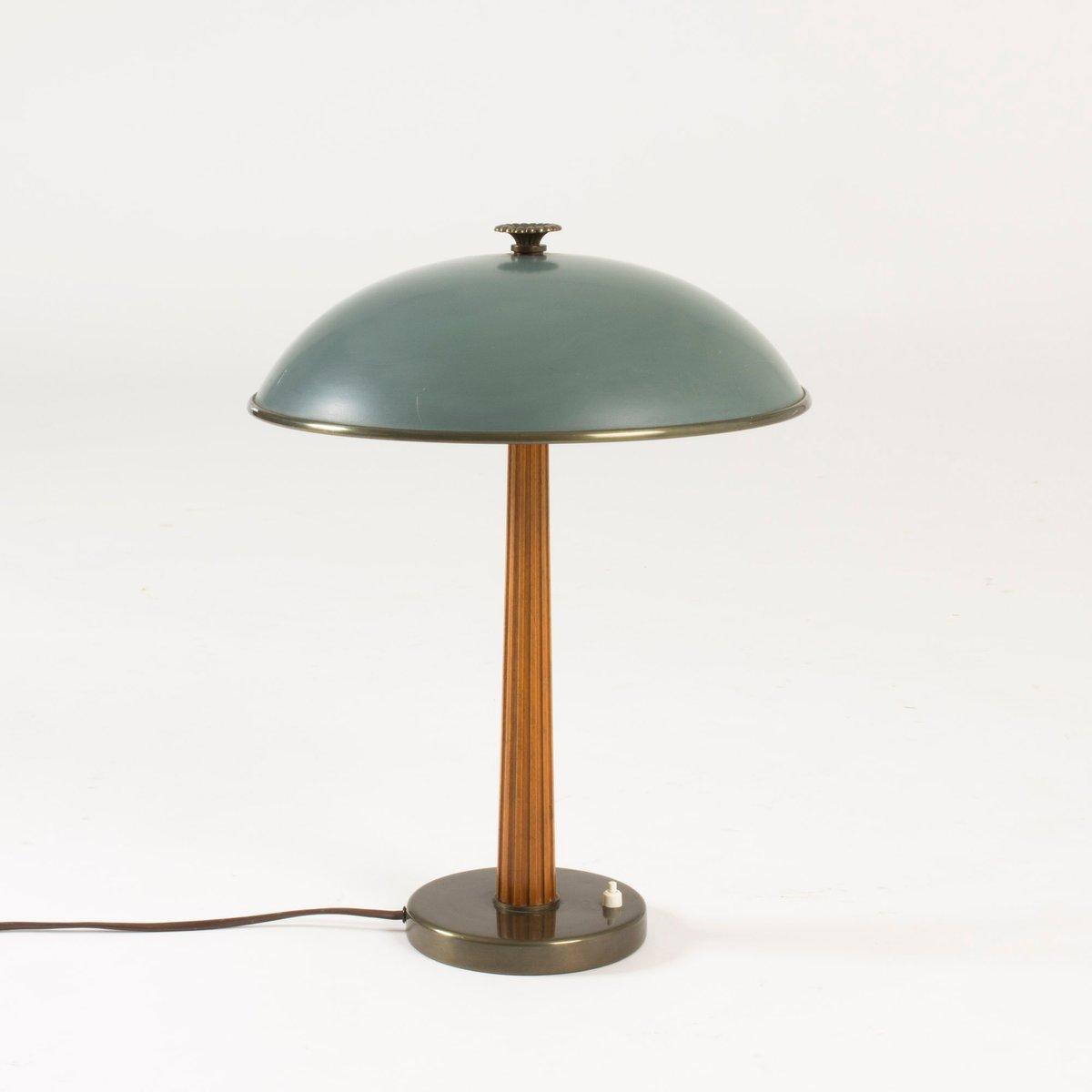 Lampe de bureau en m tal acajou de b hlmarks 1940s en vente sur pamono - Lampe de bureau style anglais ...
