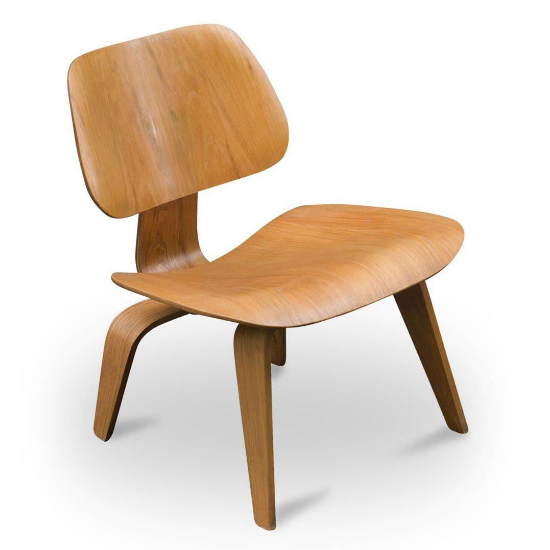vintage lcw eichen stuhl von charles ray eames f r herman miller 1950er bei pamono kaufen. Black Bedroom Furniture Sets. Home Design Ideas