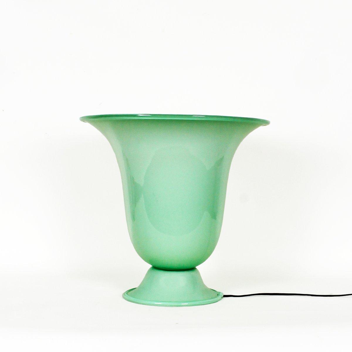 Opalglas Tischlampe, 1920er