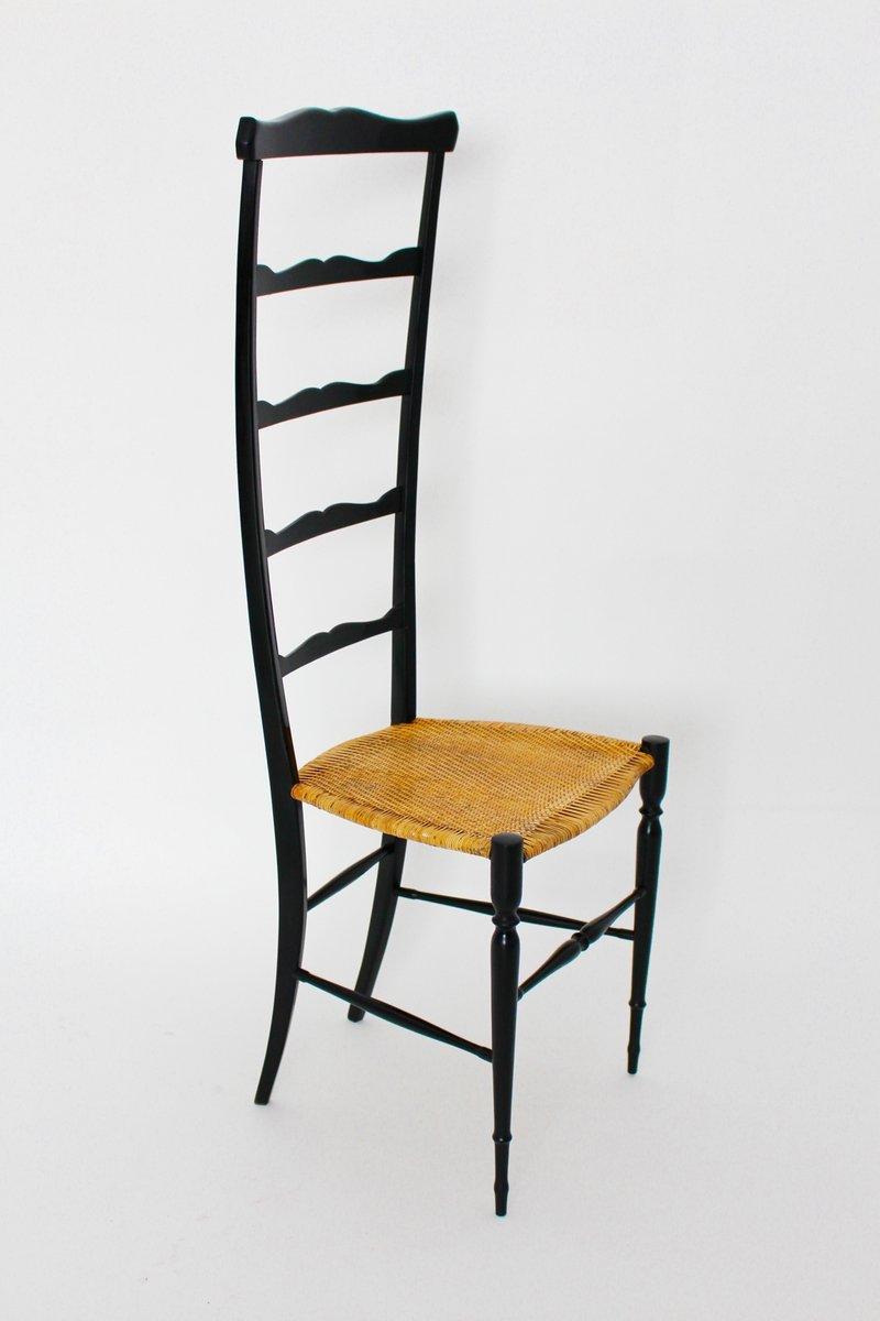 Sedia vintage dallo schienale alto di chiavari anni 39 40 for Sedia design anni 40