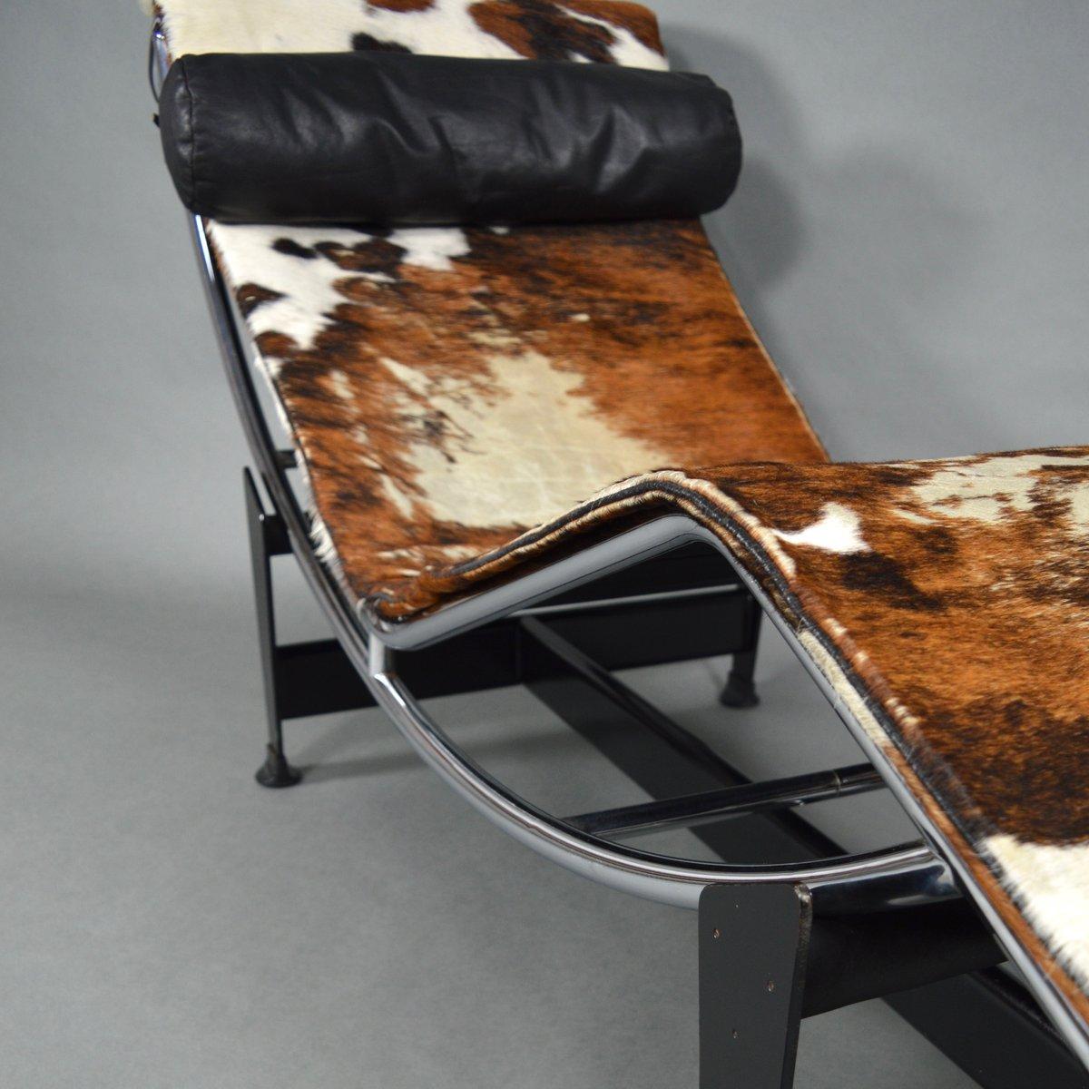 Chaise Longue Lc4 Di Le Corbusier Per Cassina Anni 60 In