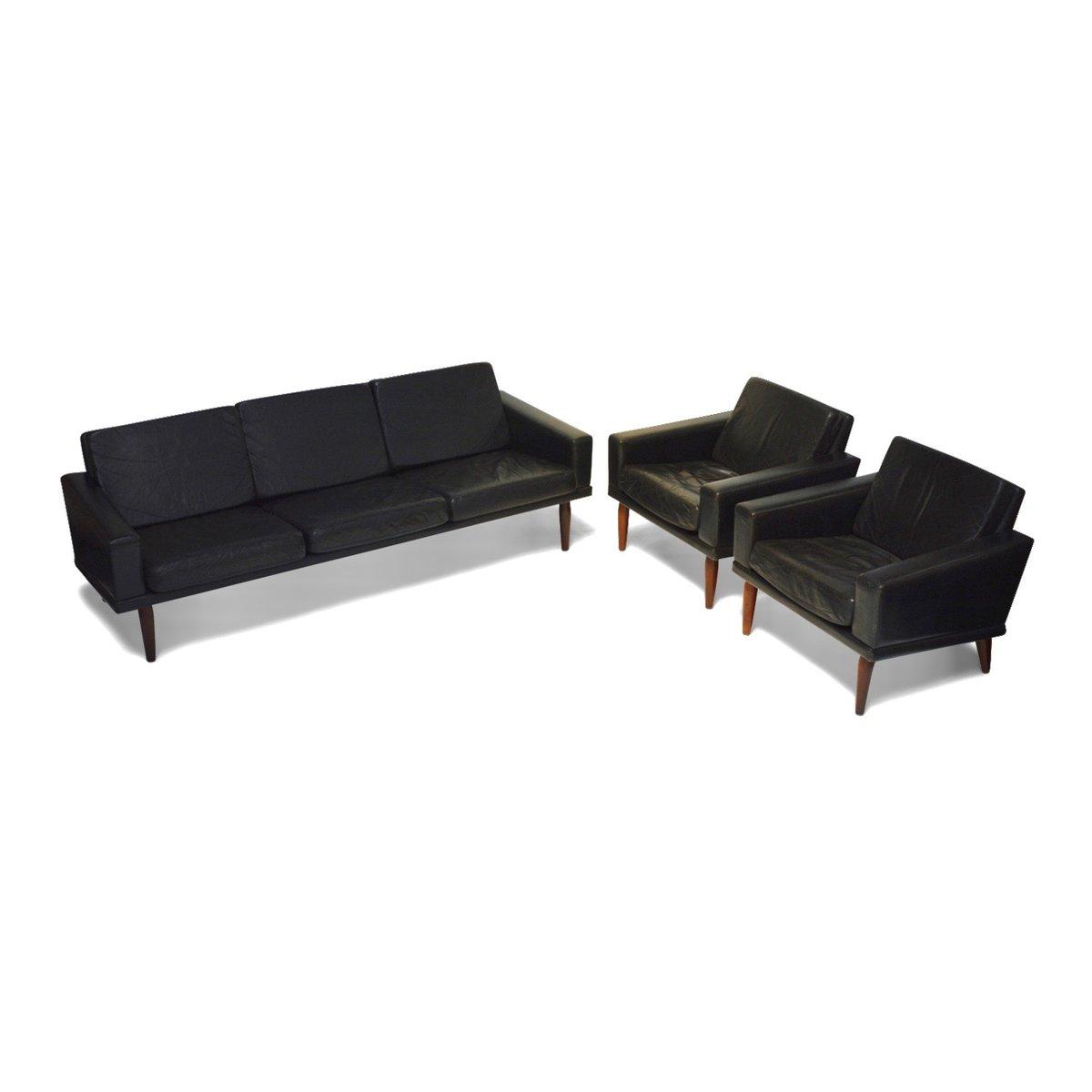 drei sitzer sofa aus leder palisander von bovenkamp 1960er bei pamono kaufen. Black Bedroom Furniture Sets. Home Design Ideas