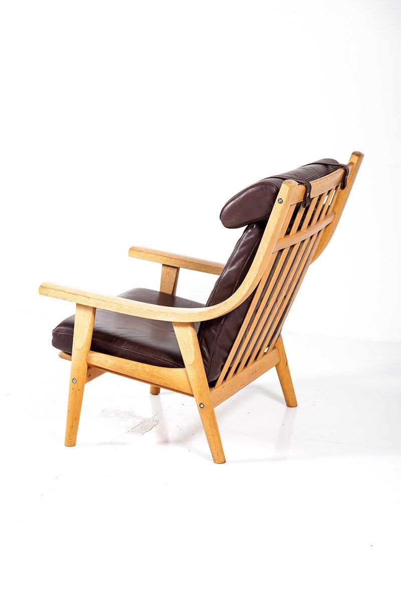 ge 530 vintage stuhl mit hoher r ckenlehne von hans j wegner f r getama bei pamono kaufen. Black Bedroom Furniture Sets. Home Design Ideas