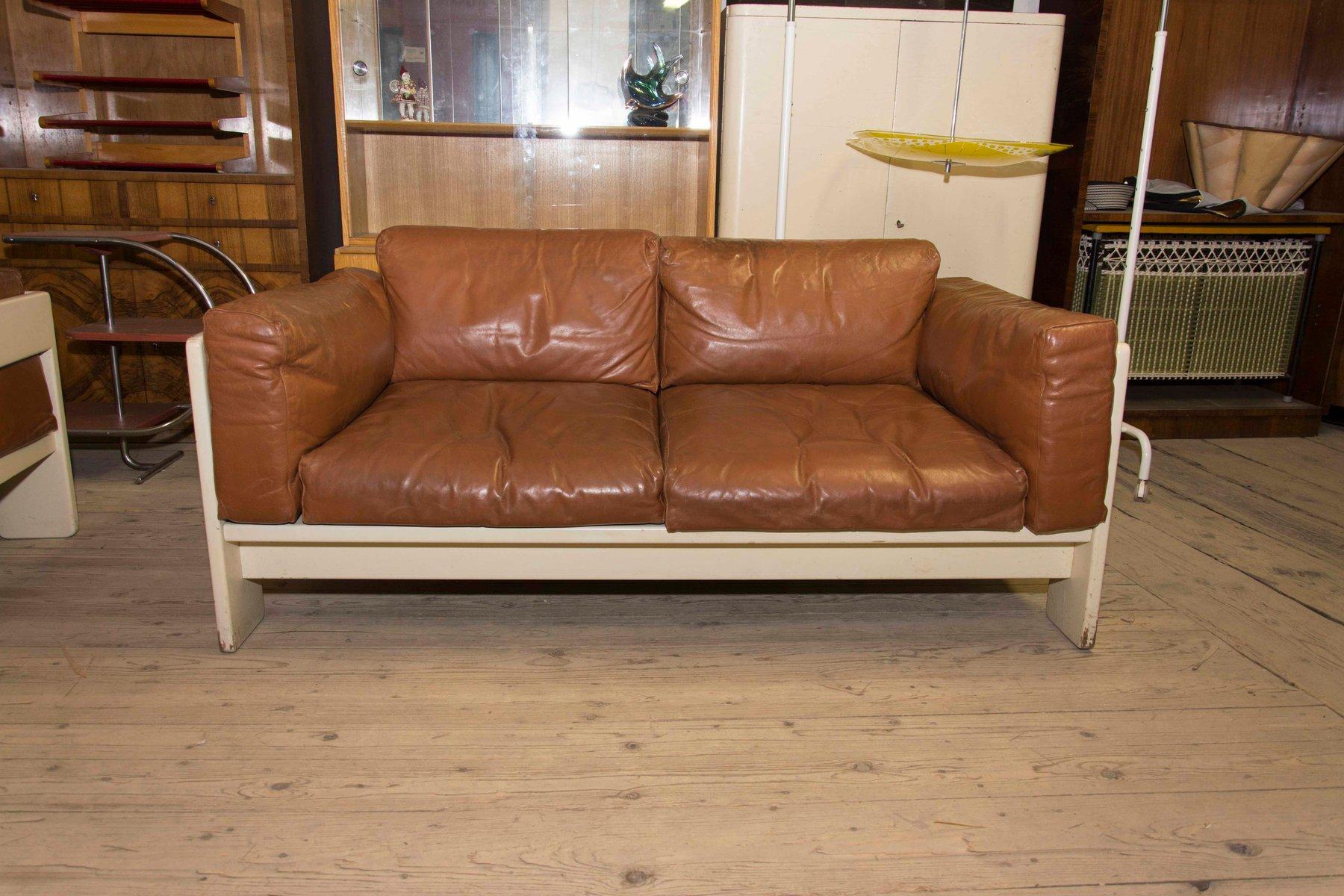 2 sitzer bastiano ledersofa von afra tobia scarpa 1970er bei pamono kaufen. Black Bedroom Furniture Sets. Home Design Ideas