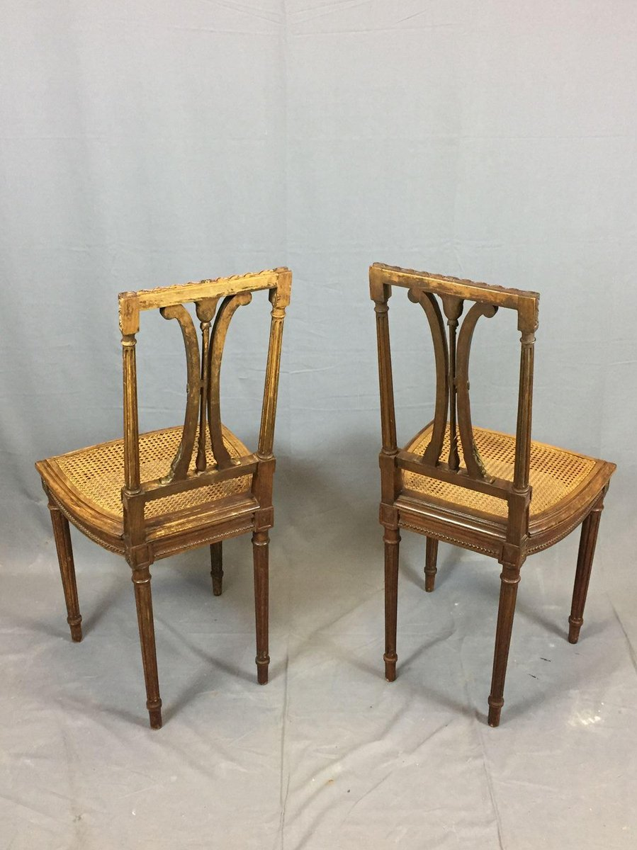 Vintage Oak Dining Chairs, Set Of 2