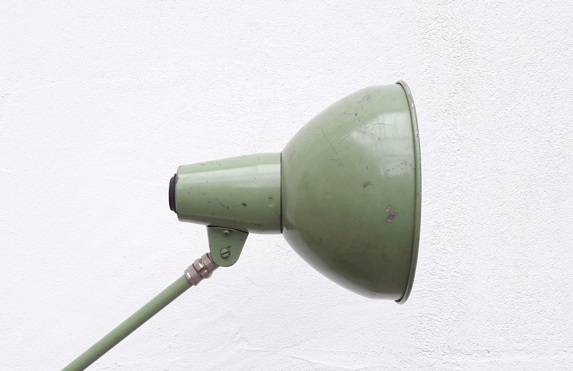 Lampe de bureau d 39 atelier vintage industrielle verte en vente sur pamono - Lampe bureau industrielle ...