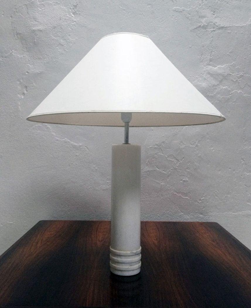 Schwedische Marmor Tischlampe von Bergboms, 1960er