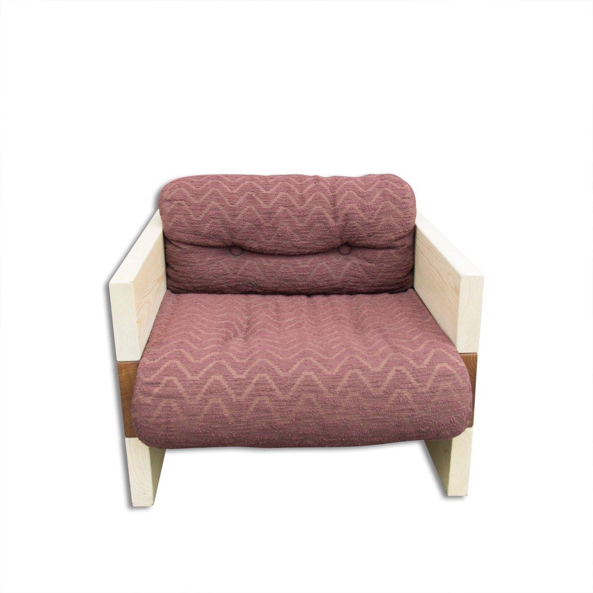 Italienische Vintage Sessel von Albert Leclerc, 1970er, 2er Set