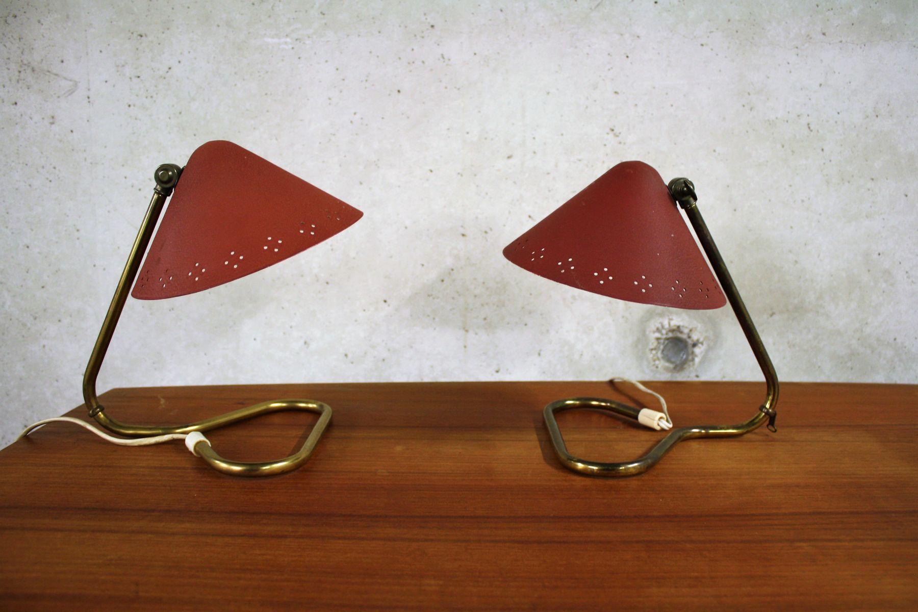 Mid-Century Tischlampen von Erik Wärna für Rydahls, 1950er, 2er Set