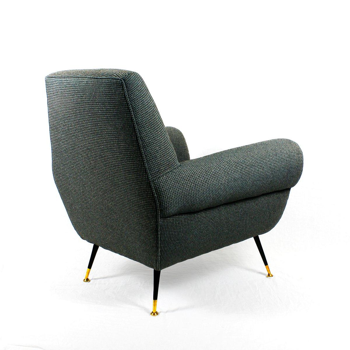 italienischer mid century sessel von gigi radice f r minotti 1960er bei pamono kaufen. Black Bedroom Furniture Sets. Home Design Ideas