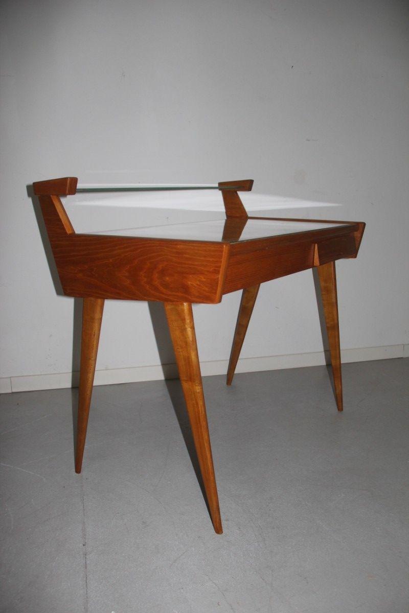 Schreibtisch aus birke 1950er bei pamono kaufen for Schreibtisch birke