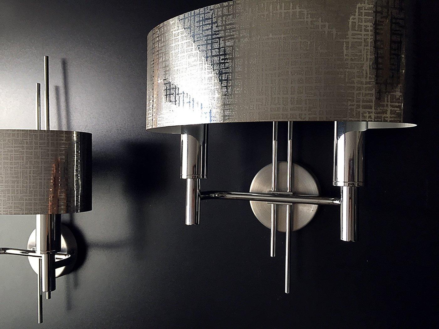 appliques m talliques par gaetano sciolari 1970s set de 2 en vente sur pamono. Black Bedroom Furniture Sets. Home Design Ideas