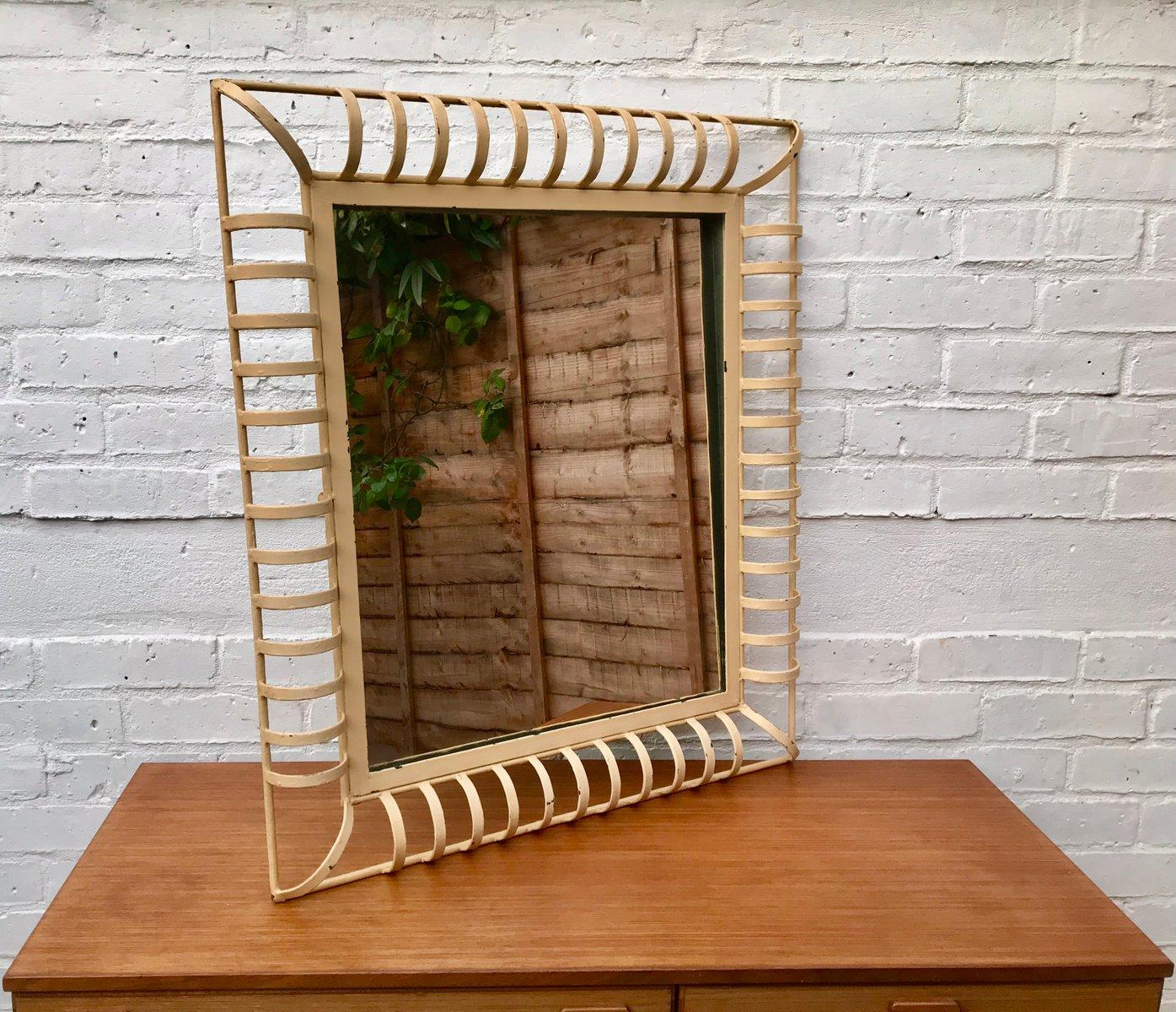 miroir mural industriel rectangulaire vintage en m tal en. Black Bedroom Furniture Sets. Home Design Ideas