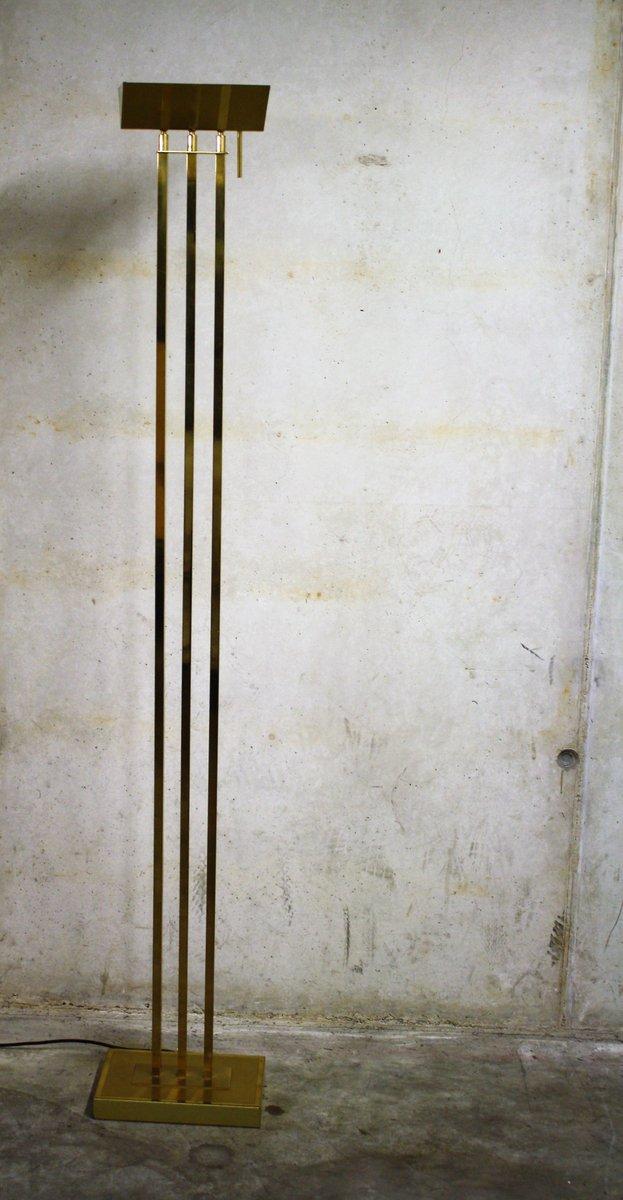 Belgische Vintage Stehlampe aus Messing von Deknudt, 1970er