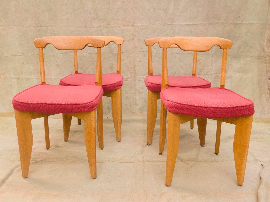 esszimmerst hle von guillerme et chambron 1960er 4er set bei pamono kaufen. Black Bedroom Furniture Sets. Home Design Ideas