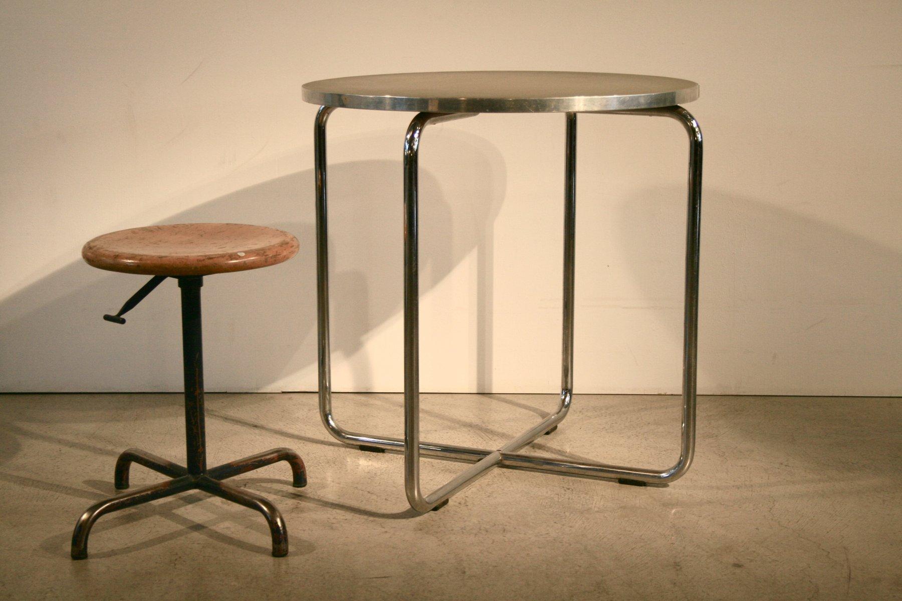 stahlrohr esstisch von a h feli 1930er bei pamono kaufen. Black Bedroom Furniture Sets. Home Design Ideas
