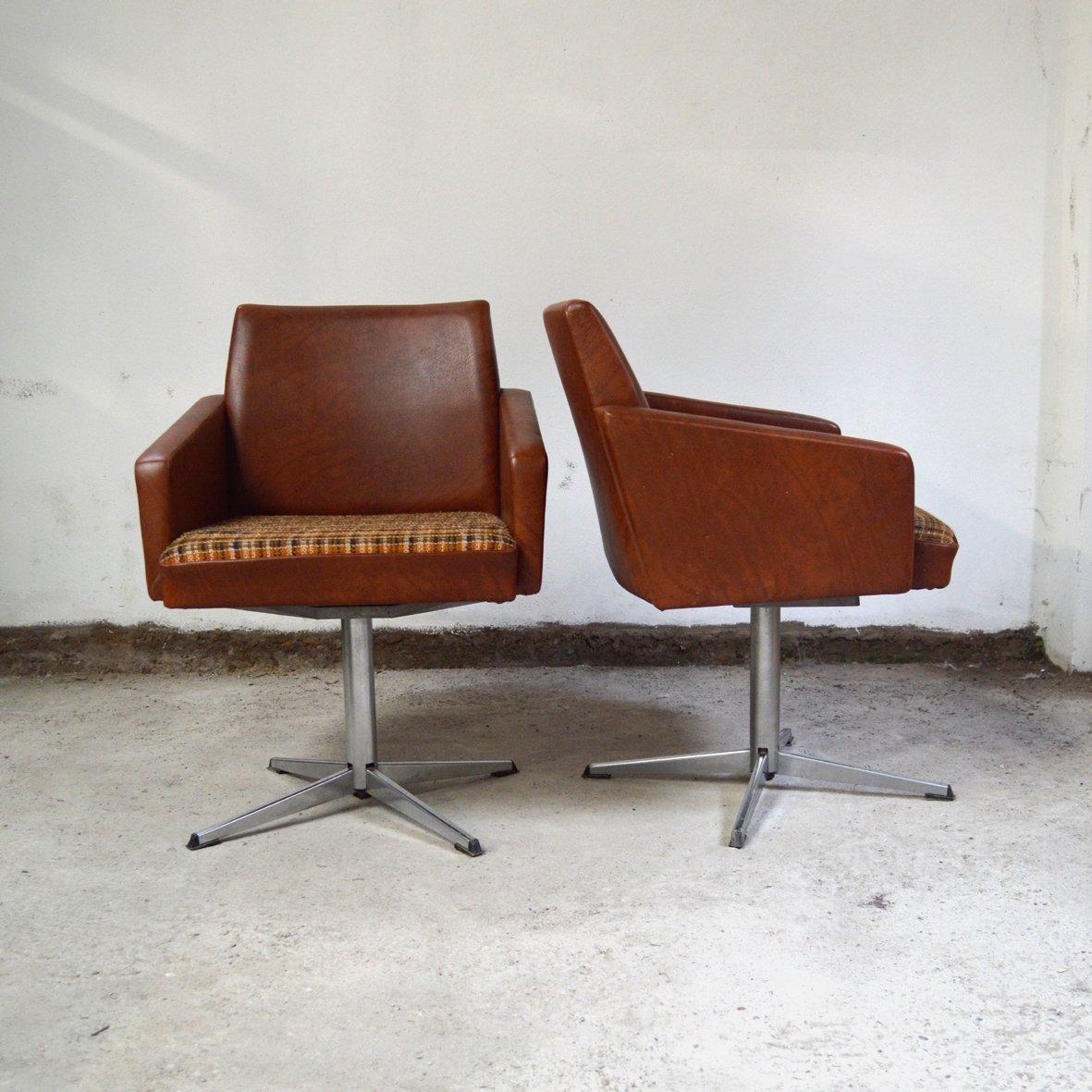fauteuils visitor en ska 1970s set de 2 en vente sur pamono. Black Bedroom Furniture Sets. Home Design Ideas