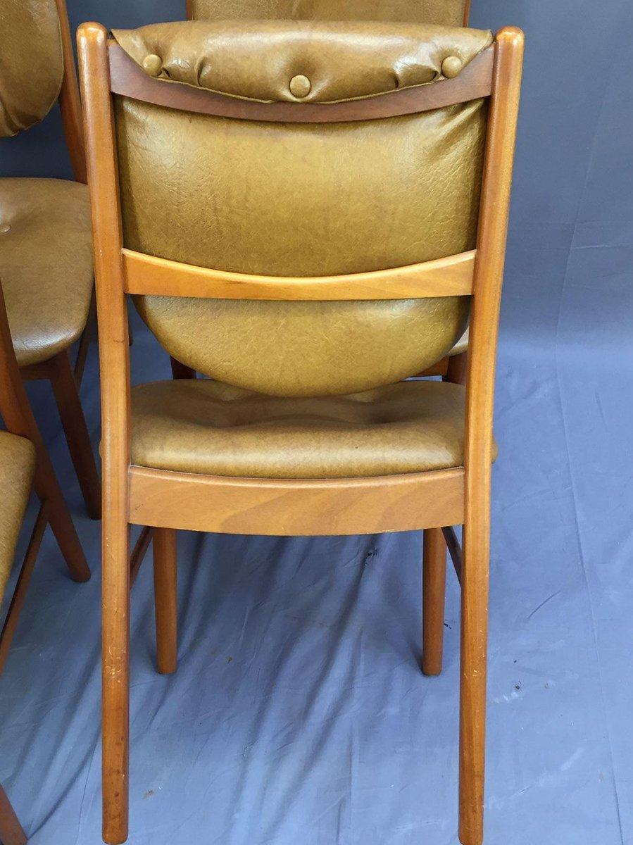 skandinavische st hle aus teak und skai 4er set bei pamono kaufen. Black Bedroom Furniture Sets. Home Design Ideas